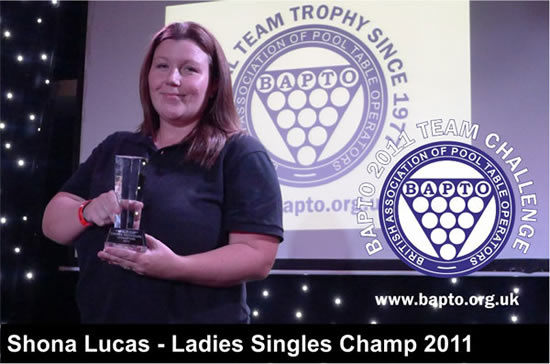 Ladies Singles 2011 Winners