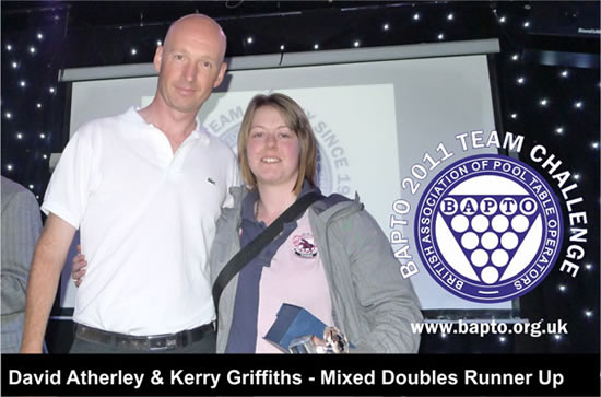 Mixed Doubles Runners Up 2011